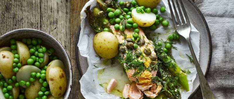 Asparagus and Salmon Parcels