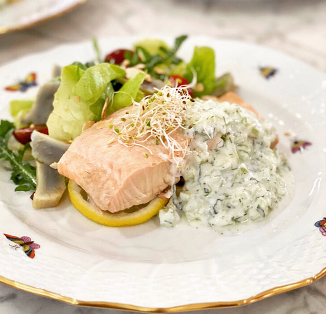 Chef Sven Garrett Poached Salmon Recipe